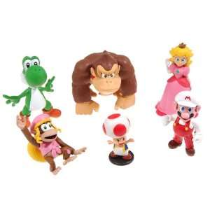 Super Mario Collectible Toy Action Figure (6pcs set) Toys