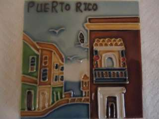 New Puerto Rico Old San Juan Ceramic Wall Hanging & Desktop Decor