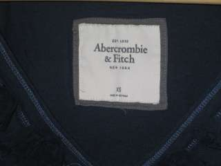 NEW Abercrombie & Fitch Womens Molly Knit Layer Shirt Top XS Navy   X