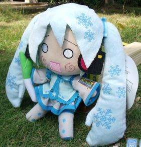Vocaloid Hatsune Miku Snow Stuffed Plush doll 11 26cm