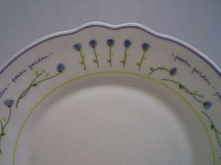 arcopal france salad plate poetic garden purple flowr