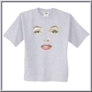 Marilyn Monroe Face Painting Shirts S L,XL,2X,3X,4X,5X