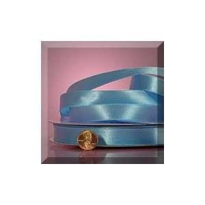 1ea   7/8 X 100yd Light Blue Shimmer Satin Ribbon Health