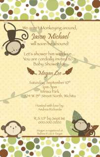 baby shower invitation matches the carter s monkey bars nursery decor