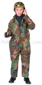 GI Army Special Forces Camo Child Play Costume