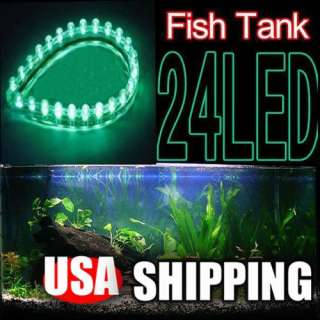 24 LED Fish Tank Aquarium Strip Night Light Waterproof