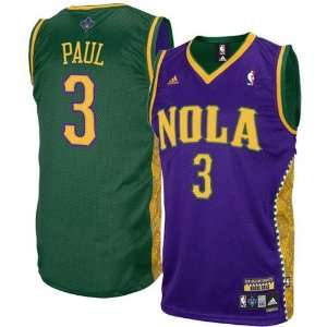 Adidas New Orleans Hornets Chris Paul Mardi Gras Swingman Jersey Size Large  on PopScreen 3cfe964dc
