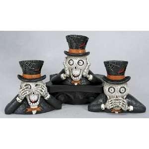 Mr. Bones 3 Skull Trio w/ LED Eyes Halloween Kitchen