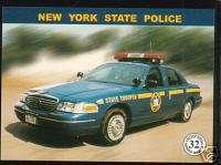 NEW YORK STATE POLICE HIGHWAY PATROL TROOPERS Car Card
