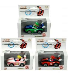 Super Mario Bros Wii Pull & Speed Karts Set Of 3