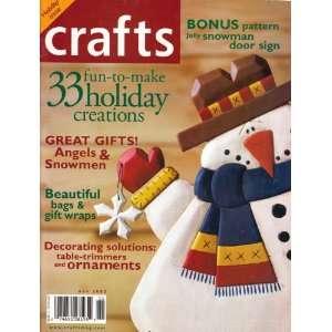 Crafts (Holiday Issue, November 2002, Vol. 25/ No. 9