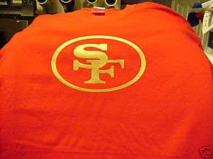 shirt Medium San Francisco 49ers Red Gold white NEW