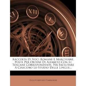 Raccolta Di Voci Romane E Marchiane, Poste Per Ordine Di