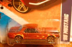 2011 Hot Wheels 65 Mustang Gold Wheels Brown HTF