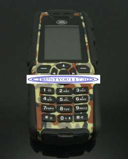 NEW camouflage QUAD BAND LAND ROVER S8 MOBILE PHONE  CAMERA LONG