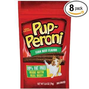 Pup Peroni Dog Snacks, Lean Beef, 2.8 Ounce (Pack of 8)