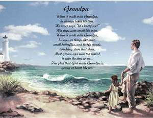 GRANDPA PERSONALIZED POEM FROM GRANDDAUGHTER