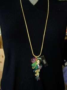 Beautiful RJ Graziano Multi Color Rhinestone Dangle Fashion Costume