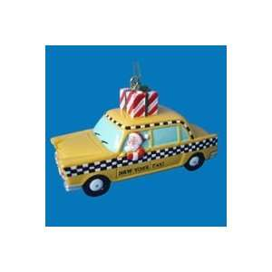 Club Pack of 12 New York Taxi Cab Santa Claus Christmas