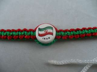 Iran Country Flag Macrame Bracelet