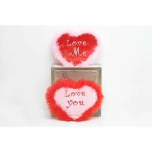 6 Assorted Phrases Valentines Day Plush Hearts Case Pack