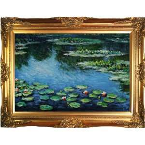 Art Monet Water Lilies Painting with Victorians