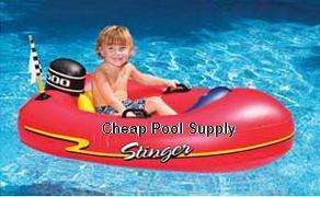 STINGER pool inflatable motor boat toy float speed boat