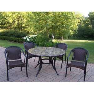 Chateau Living Stone Art 5 Piece Tuscany Dining Package