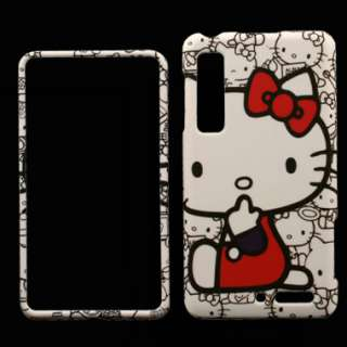 Case for Motorola Droid 3 Hello Kitty Cover Skin Snap Clip on