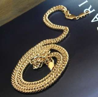 Very personalized fashion Mens Yellow Gold Plated necklace 23.6
