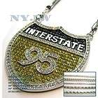 HIP HOP BLING ICED OUT RHY I 95 PENDANT W/ CHAIN SET