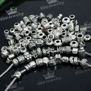 100 Tibetan Silver Mix Bead Spacer Fit CHARM Bracelet