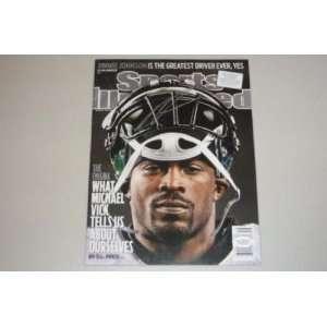 Michael Vick Signed Eagles Sports Illustrated Mag Jsa