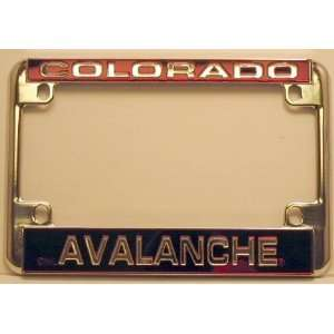 NHL Chrome Motorcycle RV License Plate Frame