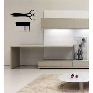 SCISSORS AND A COMB WALL STICKER DECAL ART MURAL O503