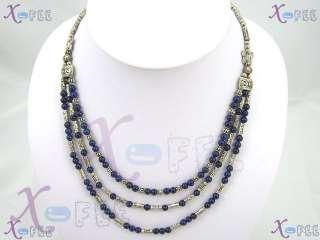 New Tibetan Silver Fashion Butterfly Tribal Jewelry Lapis Lazuli Beads