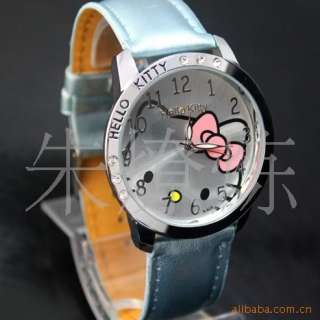 5PCS New HelloKitty Girls Lady Women Crystal Quartz Wrist Watch, A426