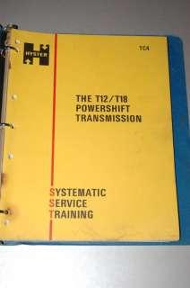 HYSTER FORKLIFT T12 T18 TRANSMISSION SERVICE MANUAL