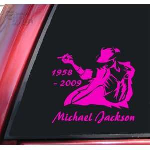 Michael Jackson 1958   2009 Vinyl Decal Sticker   Hot Pink