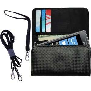 Black Purse Hand Bag Case for the Samsung I8700 with both