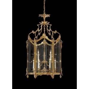 Metropolitan N2334 Pendant French Gold Clear Glass