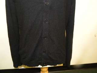 INHABIT mens black cashmere cardigan sweater top M