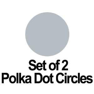 Set of 2   9 Metallic Silver Circles Polka Dots Vinyl Wall Graphic