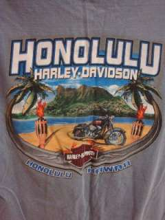 HARLEY DAVIDSON Motorcycles Honolulu HAWAII Mens S/S T Shirt MEDIUM