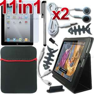 ACCESSORY LEATHER CASE SCREEN COVER FOR APPLE IPAD 2 3G