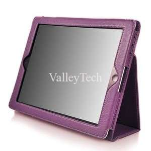 iPad 2 Smart Cover PU Leather Case + Screen Protector + Stylus
