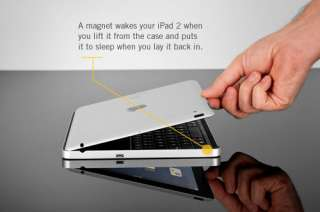 Wireless Keyboard Aluminum Stand Case for The New iPad 3/2