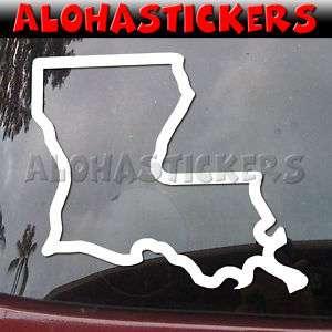 LOUISIANA STATE Vinyl Decal Car Window Sticker Q21