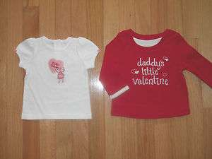 NWT JANIE AND JACK / GYMBOREE Girls Valentines Day Shirt *UPic* 3 6 12