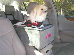 Pet Dog Cat Luxury Lookout Console Carrier Car Seat 7lbs Anthracite